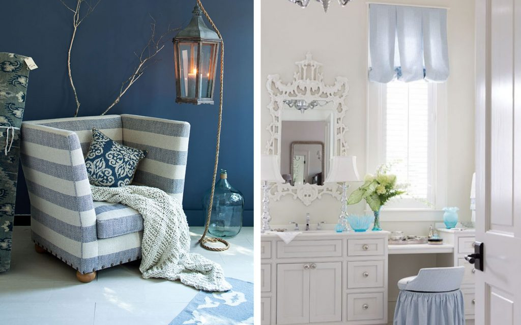 Beautiful Blue and White Rooms Beautiful Blue