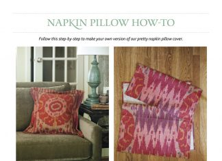 Napkin Pillow How to