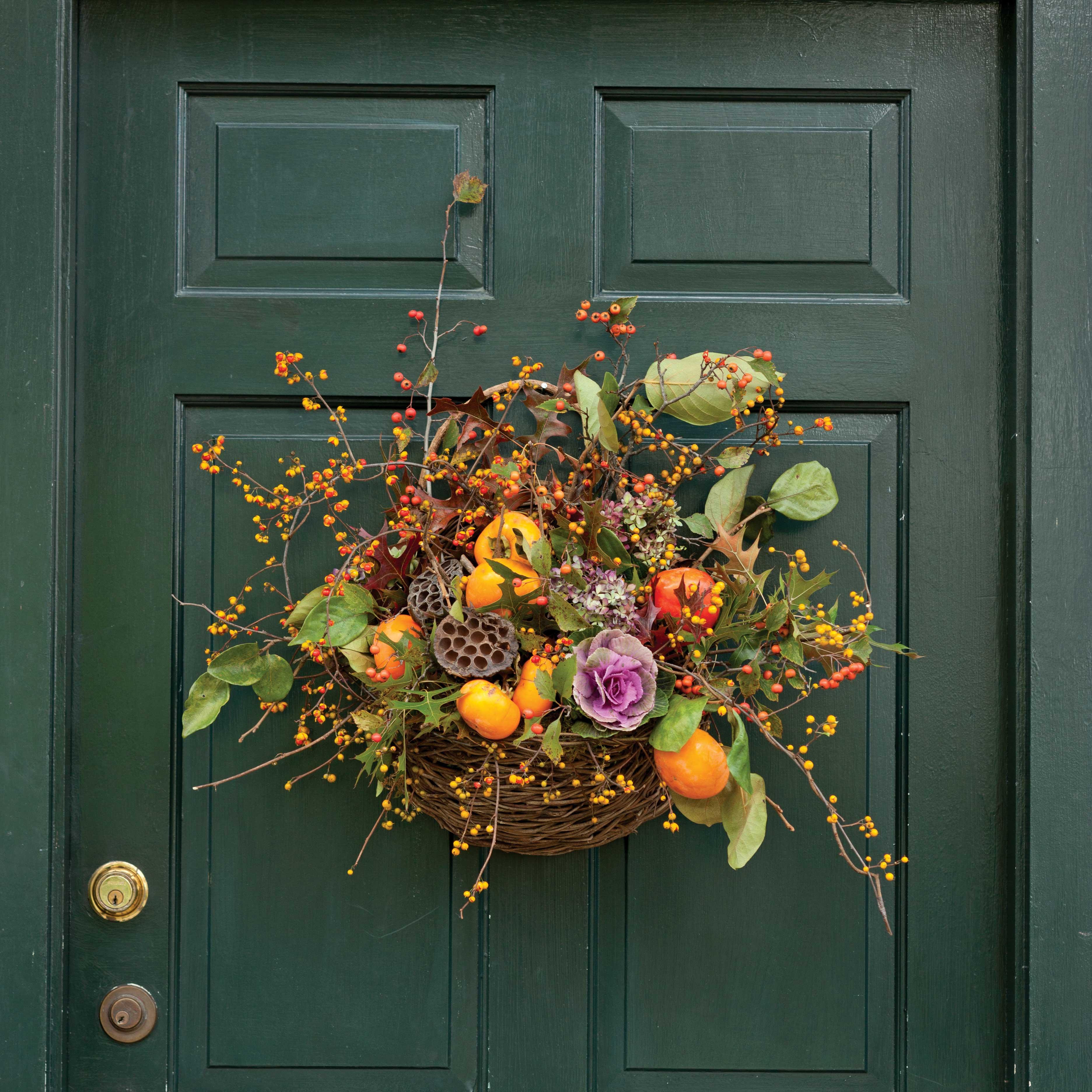 Fall Door Decor: Southern Lady Magazine