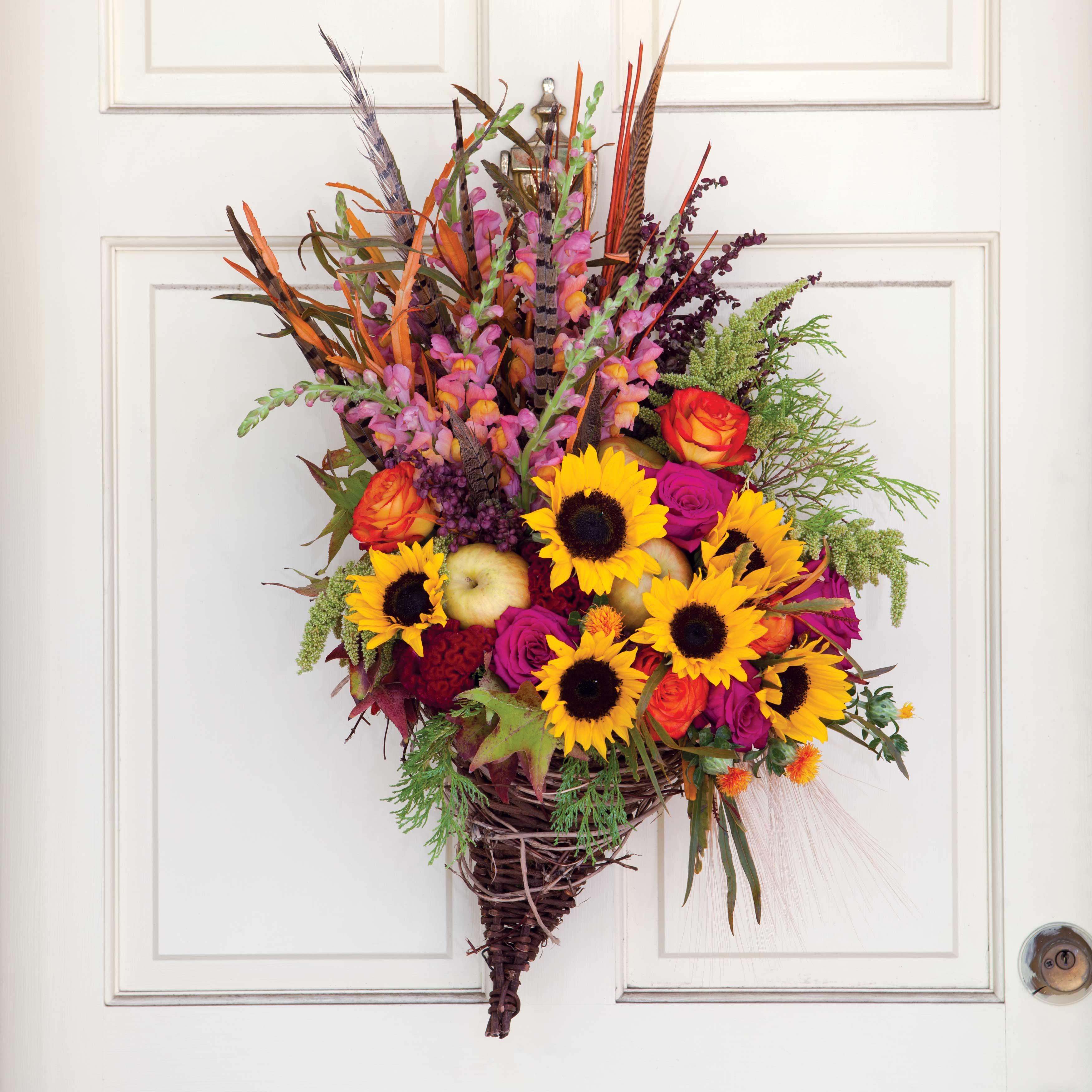 Fall Door Arrangements: Southern Lady Magazine