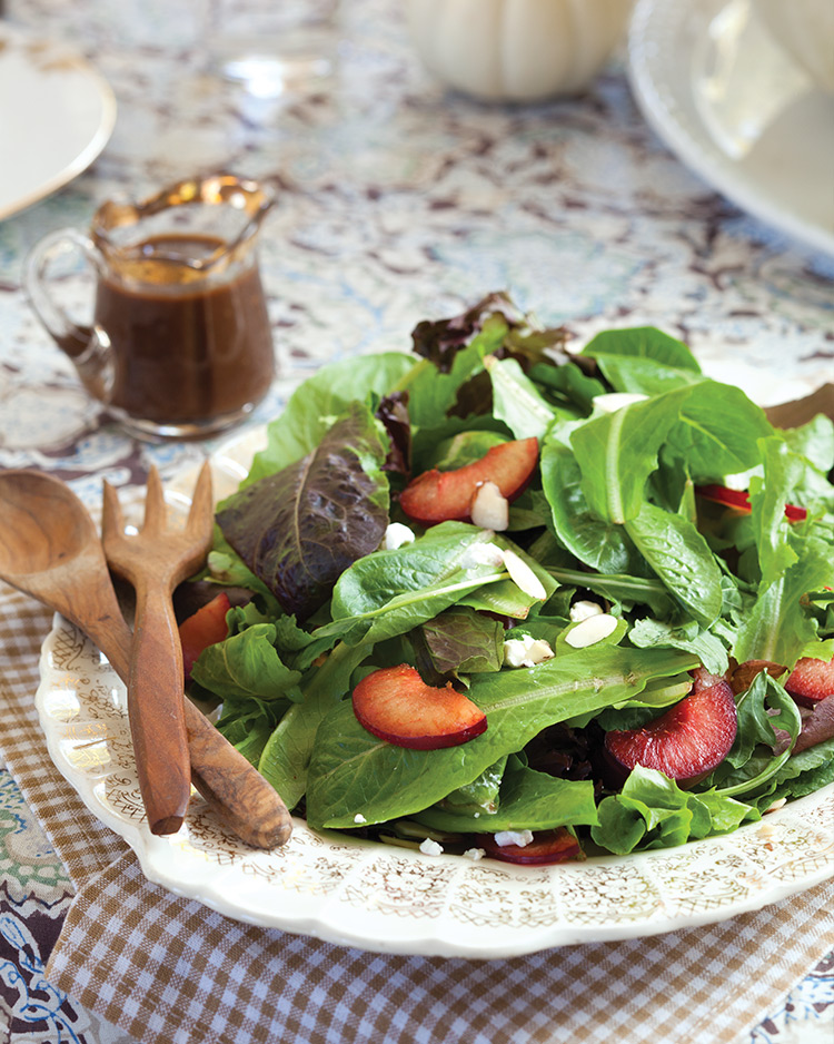 Plum Salad with Goat Cheese