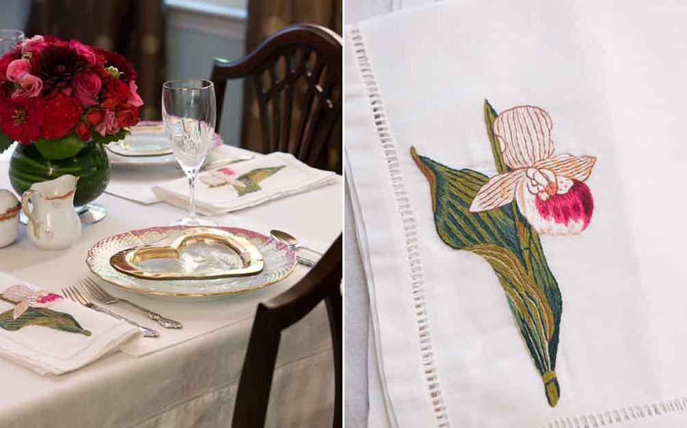 Valentine's table setting, southernladymagazine.com