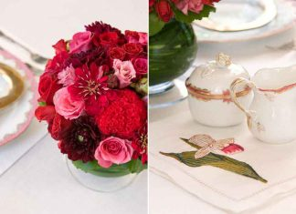 Valentine's table setting, southernladymagazine.com