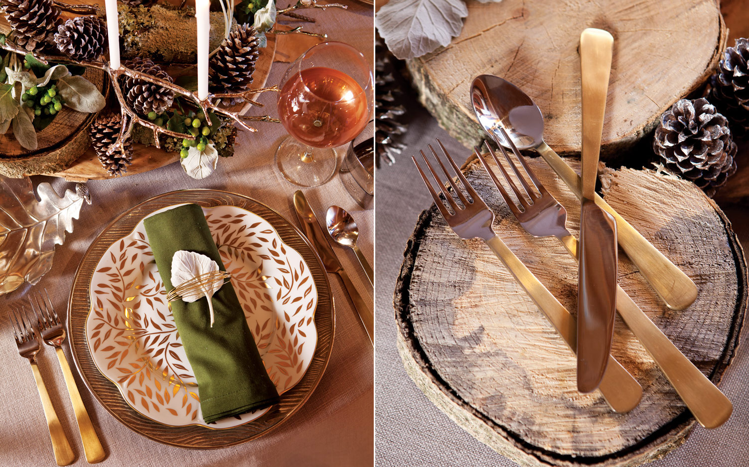 Woodland-Inspired Winter Table Setting
