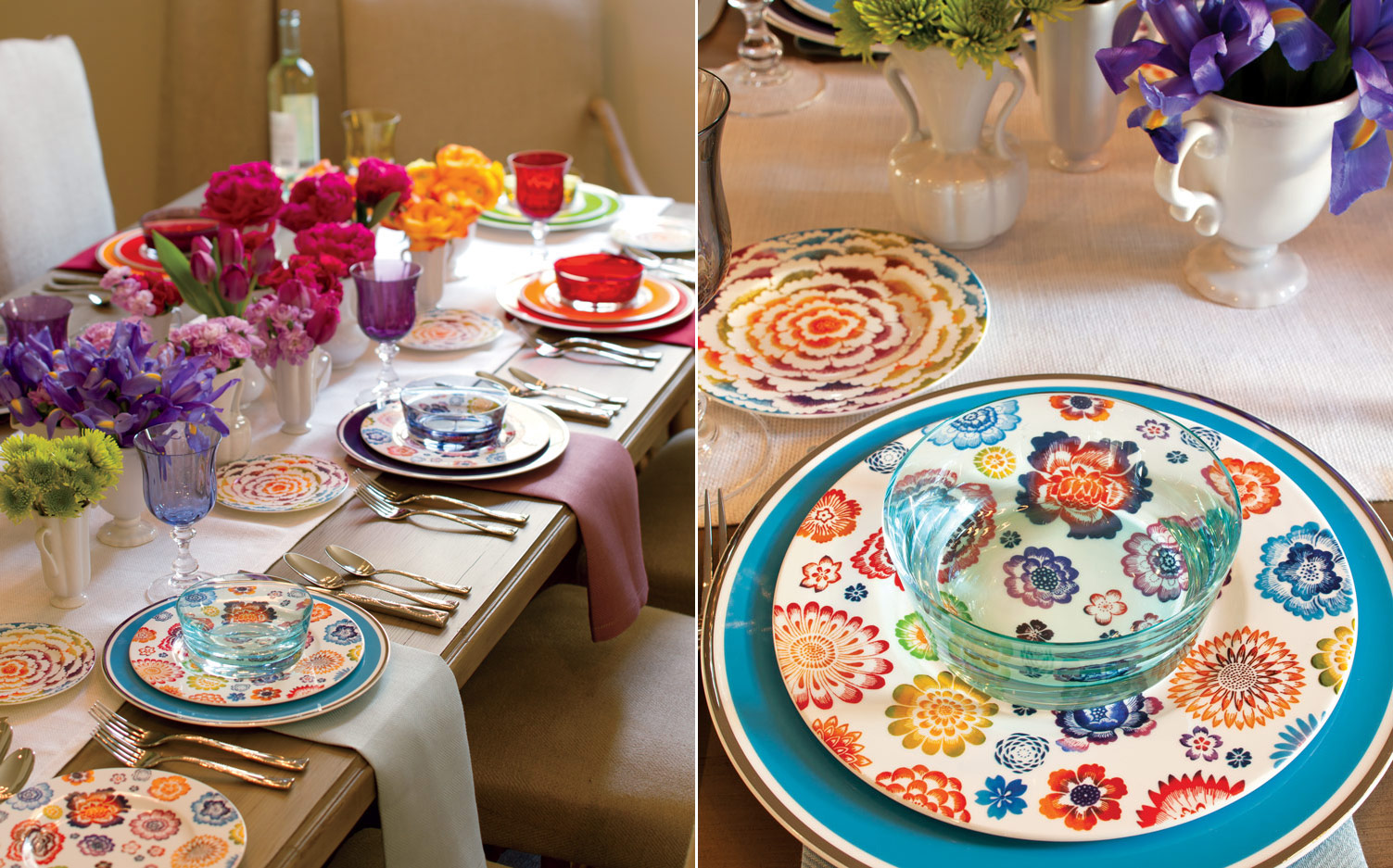 Rainbow Table Setting - Southern Lady Magazine & Create a Rainbow Table Setting
