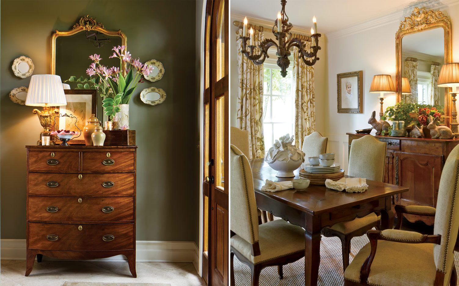 Designer sally may on the classical southern home for Home decor interior design