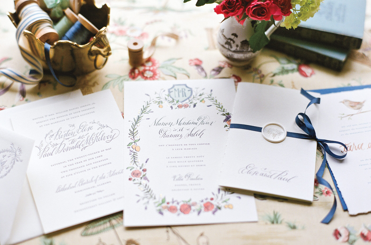 Calligrapher Holly Hollon and Tips for a Wedding Paper Suite