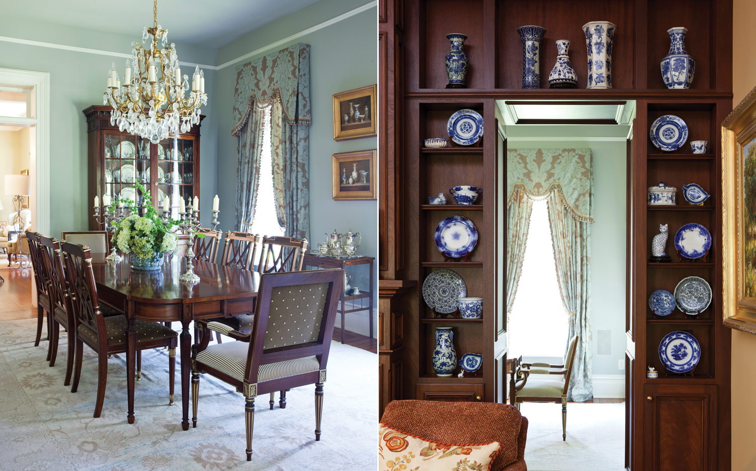 Classic design in a remodeled victorian home southern style for Victorian dining room