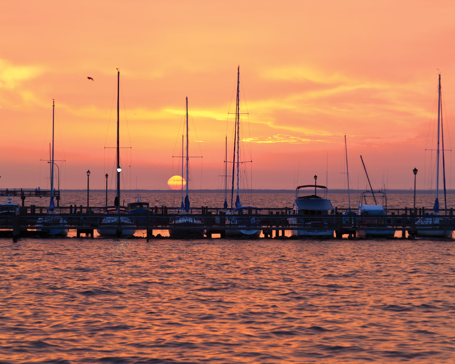 A photo of the bay at sunset in Fairhope, Alabama