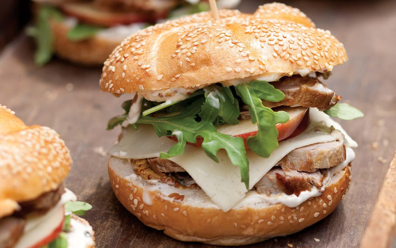 Pork Tenderloin Sandwiches with Caramelized-Onion Mayonnaise