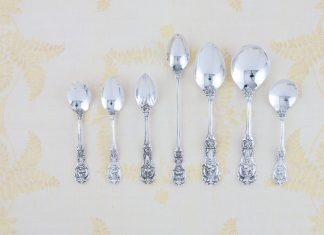 A picture of spoons for lessons in etiquette