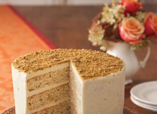 A picture of Pistachio Cake with Honey Buttercream