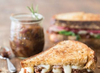 A picture of an Onion Marmalade Sandwich