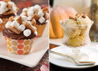 A picture of S'more Cupcakes and Pumpkin Pie Ice Cream