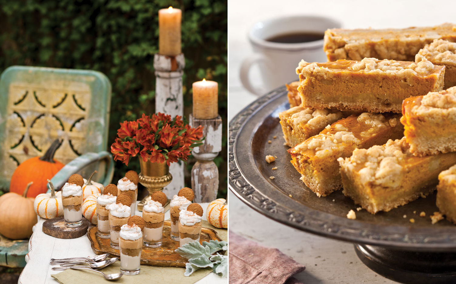 A picture of Pumpkin Trifles and Pumpkin-Streusel Pie Bars
