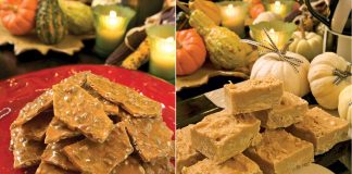 A picture of Pumpkin Brittle and Pumpkin Fudge