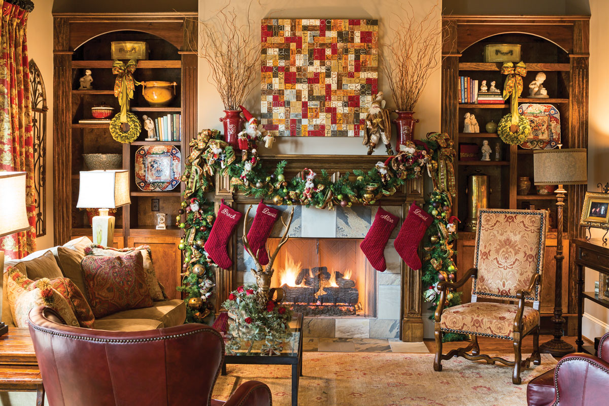 Of Living Rooms Decorated For Christmas Joyful Embellishments Create A Holiday Showplace Southern Lady Mag