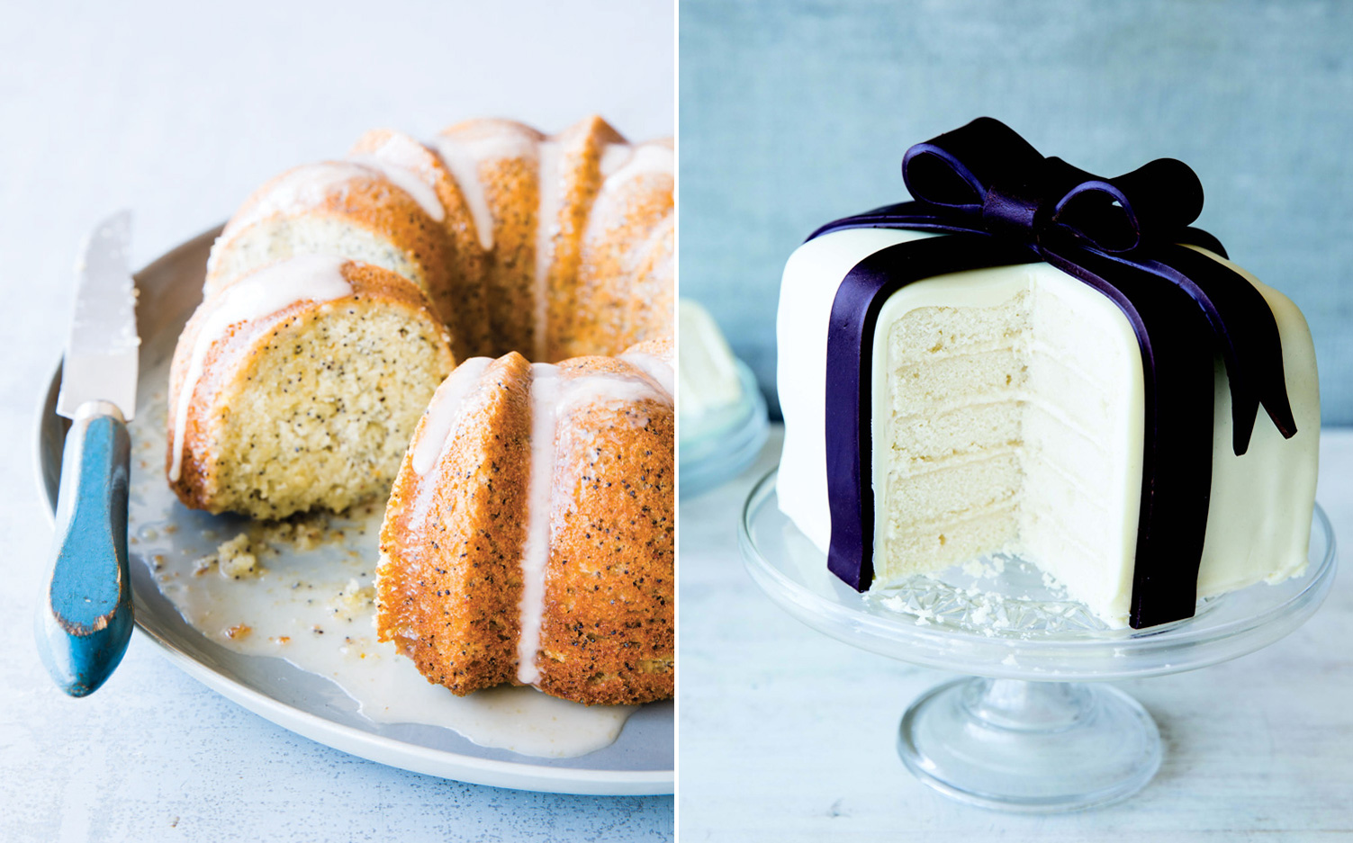 Pictures of cake from Catherine Ruehle's cookbook Let Us All Eat Cake