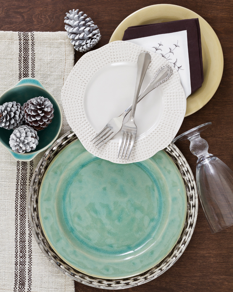 A photo of aqua marine Corsica dishes by Casafina for Mix & Match Hues of Blue