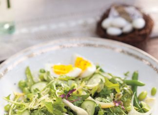 A picture of Southern Lady magazine's Eastertime Salad with Lemon Dill Vinaigrette