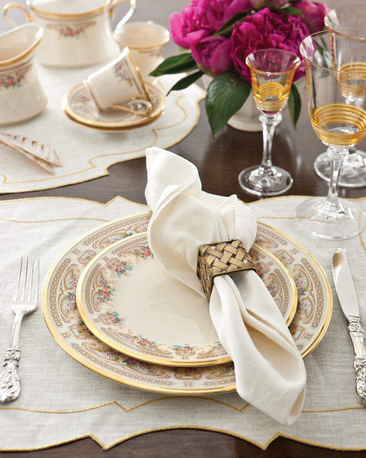 A photo of the Versailles china pattern by Lenox.