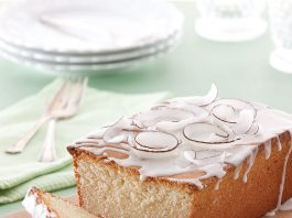 A picture of coconut pound cake