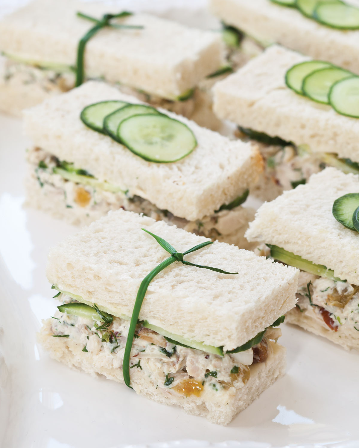 Savory Party Bread Recipe: Herbed Chicken Salad Tea Sandwiches