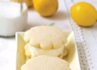 Lemon buttermilk ice cream sandwiches