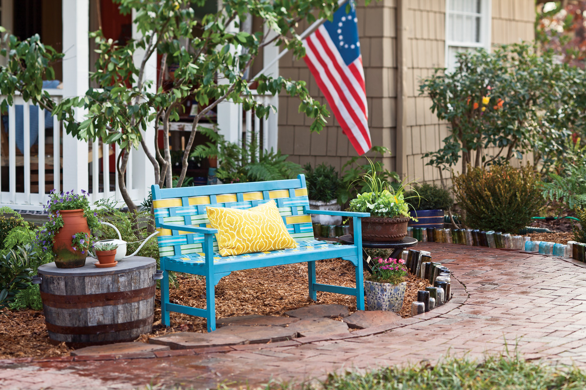 A picture of a summer porch spruce-up