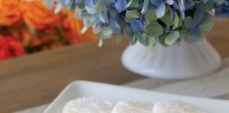 A picture of Lemon Cooler cookies on the front porch