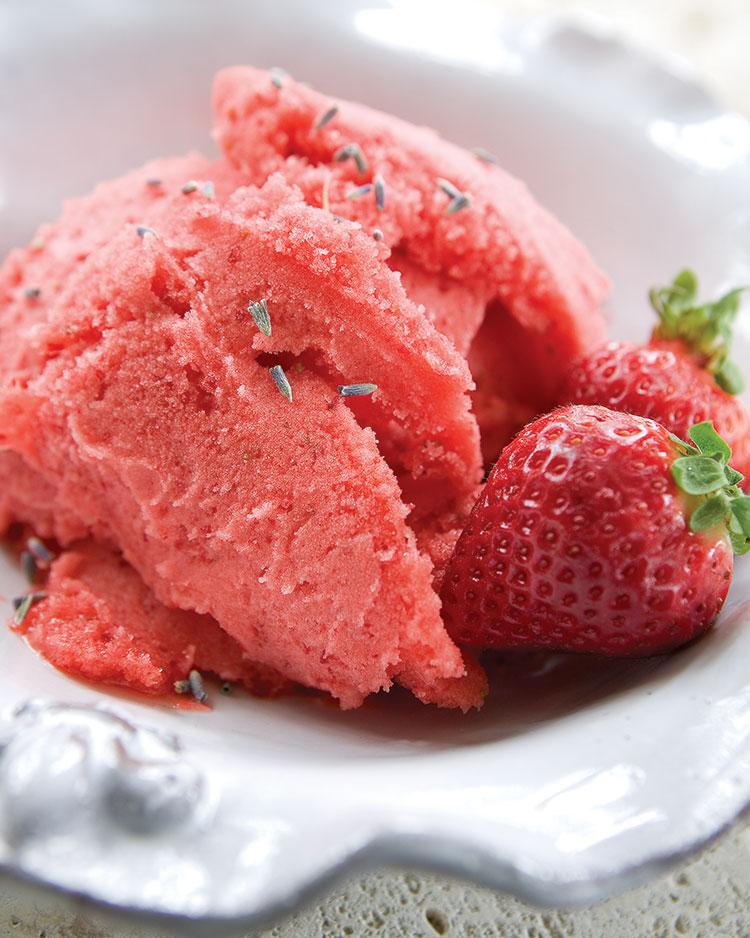 Strawberry and lavender sorbet southern lady magazine strawberry and lavender sorbet sisterspd