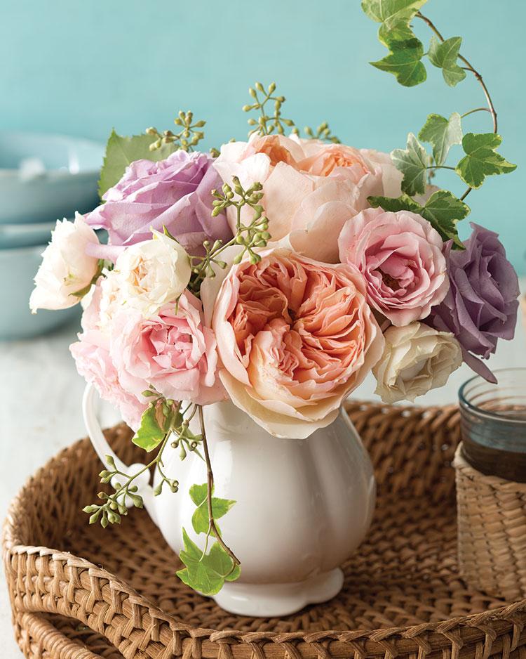 Summer Blooms, rose bouquet