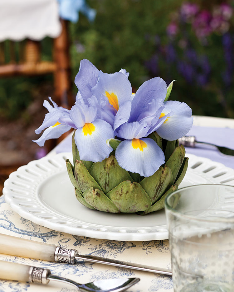 Spring entertaining ideas, artichoke vase