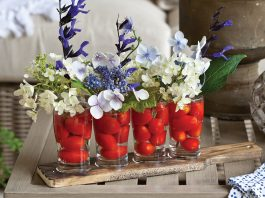 Spring Entertaining, tomato vase