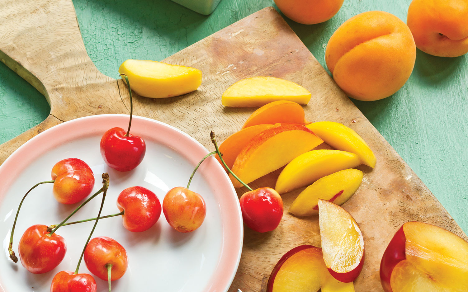 Stone Fruits, peaches and cherries