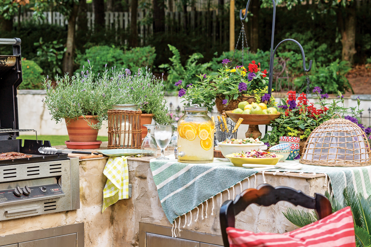 an alfresco feast for father u0027s day southern lady magazine