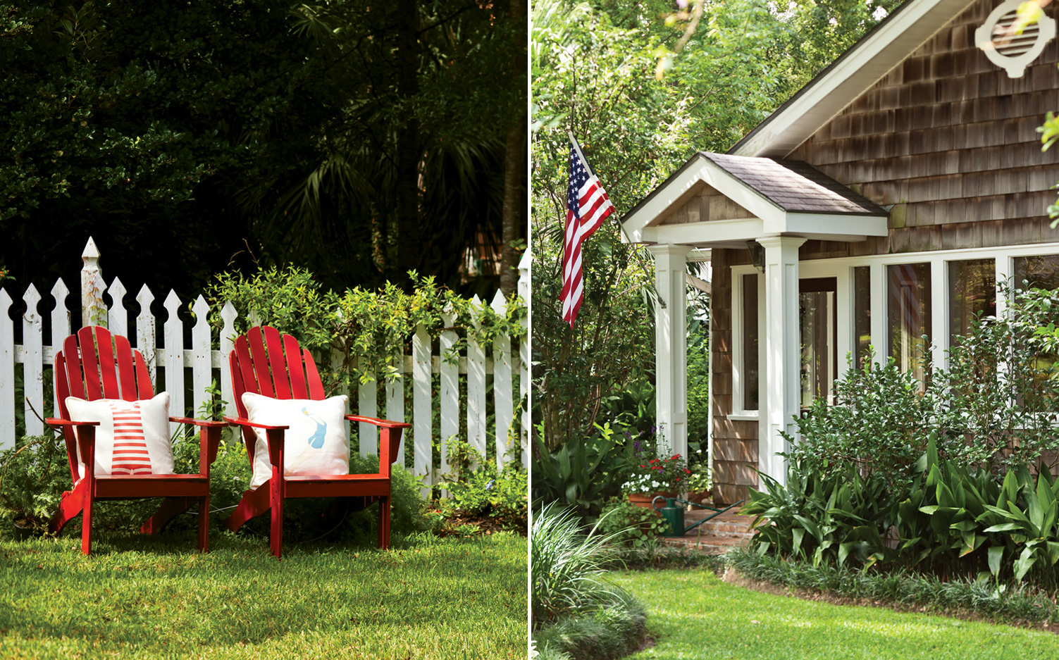 A picture of outdoor displays with all-American charm