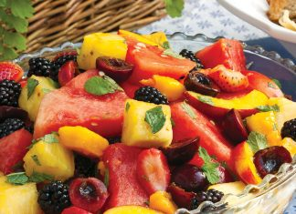 Recipe Box Mint-Lime Fruit Salad