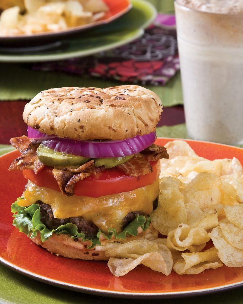 Summer Cookout Recipes, Big Bacon Cheeseburgers