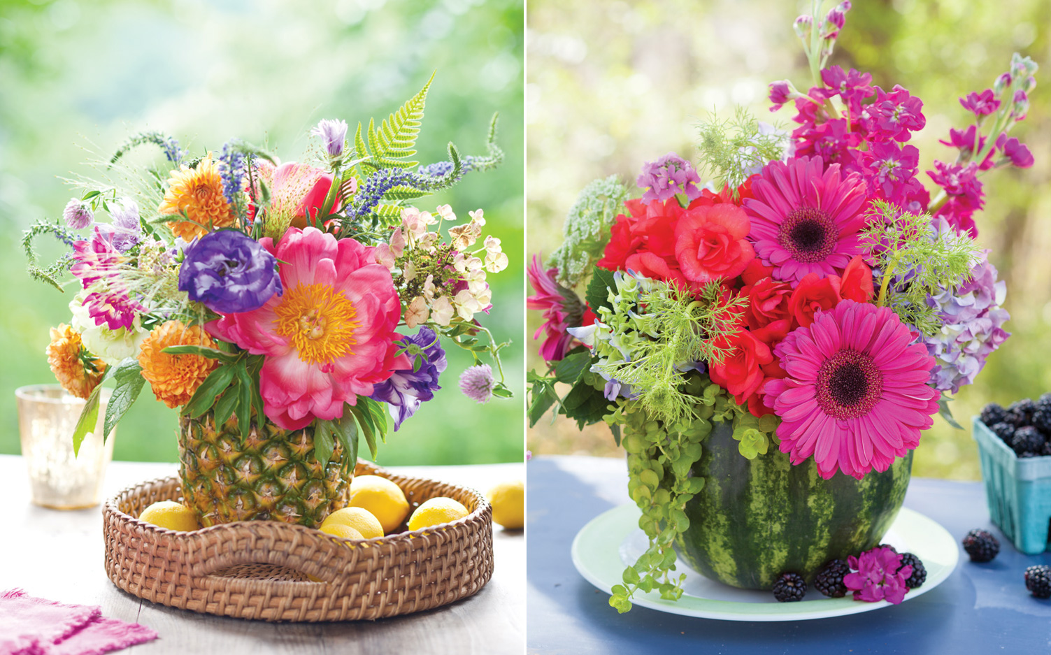 & Create Summer Floral Arrangements in Fruit - Southern Lady Mag