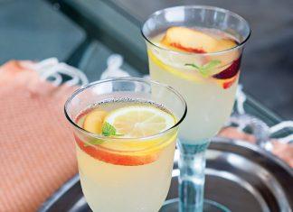 Tuscan meal, limoncello lemonade