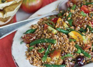 Tuscan Meal, farro salad