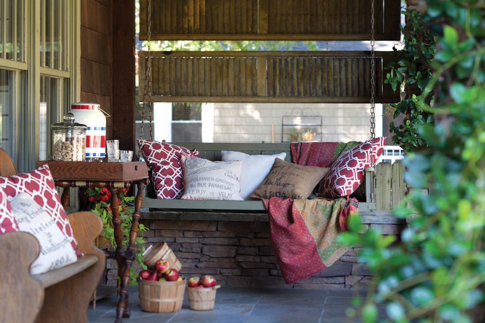 A picture of fall porch views
