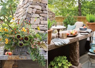 A picture of an outdoor cocktail party to welcome fall
