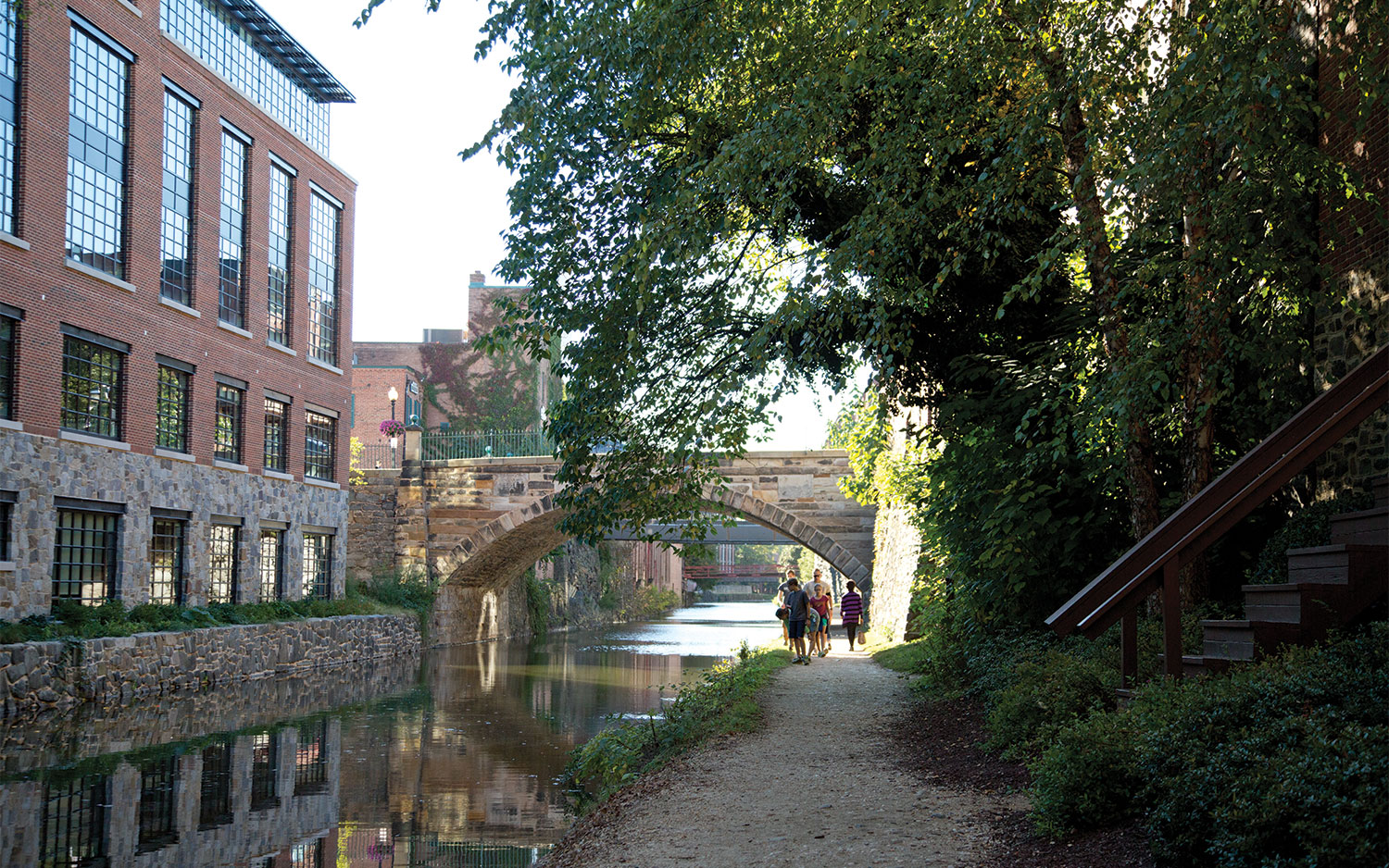 A photo of C&O Canal in Georgetown Washington DC