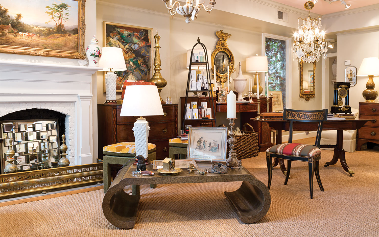 A photo of Comer & Co Antiques and Interiors in Georgetown Washington DC