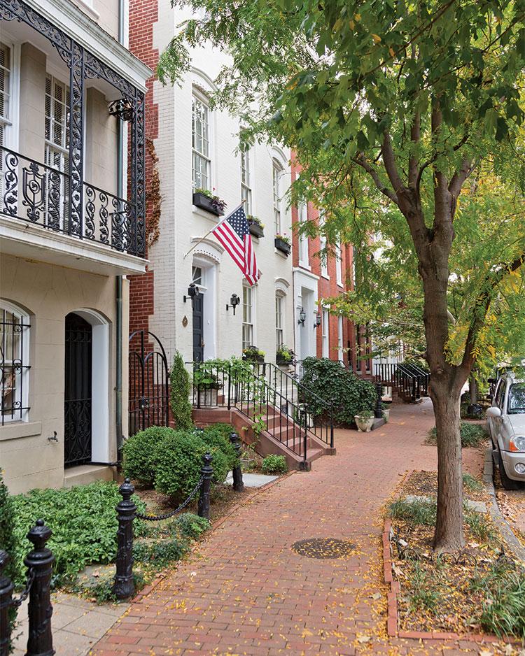 A photo of a neighborhood in Georgetown Washington DC