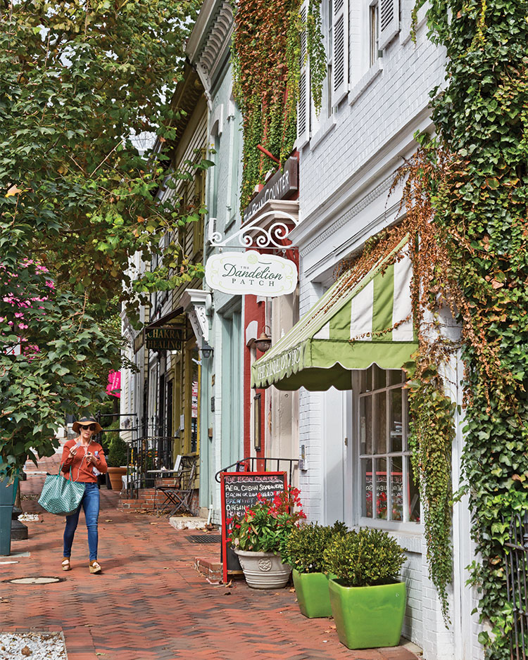 A photo of a street in Georgetown Washington DC