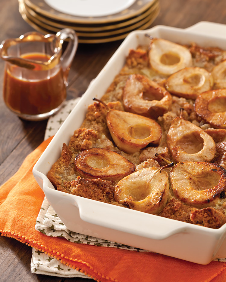 pear-bread-pudding Crisp & Delicious Pears