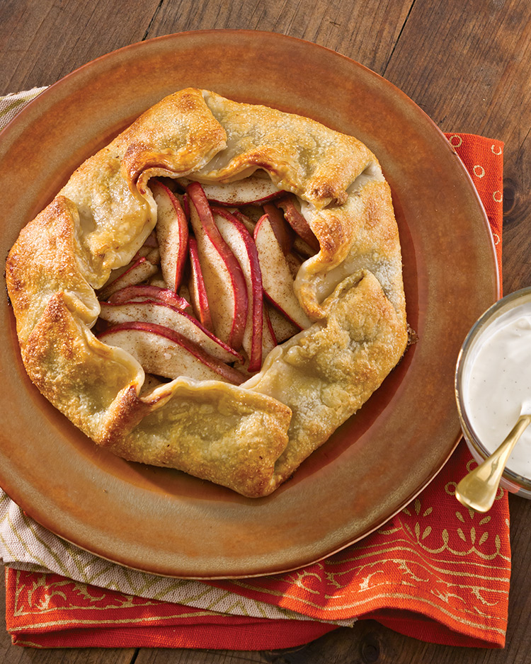 Pear Galette with Brown Sugar Cream